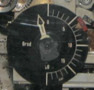 The comparator embedded with double dial of the German torpedo calculator