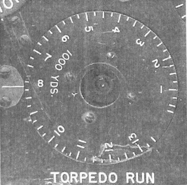 The torpedo run length dial of the American torpedo calculator as rotating dial