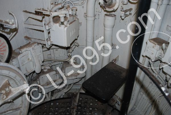 Firing lever in U 995's conning tower