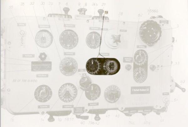 Double gyro angle dial