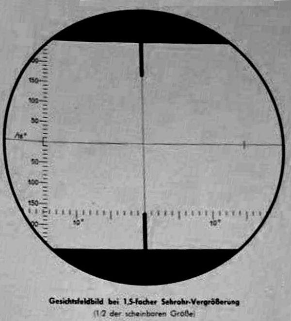 The graticule of the type ASR C/13 attack periscope